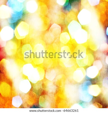 Abstract holidays lights - stock photo
