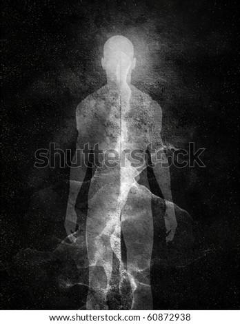 Abstract Human figure - stock photo
