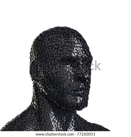 abstract human head - stock photo