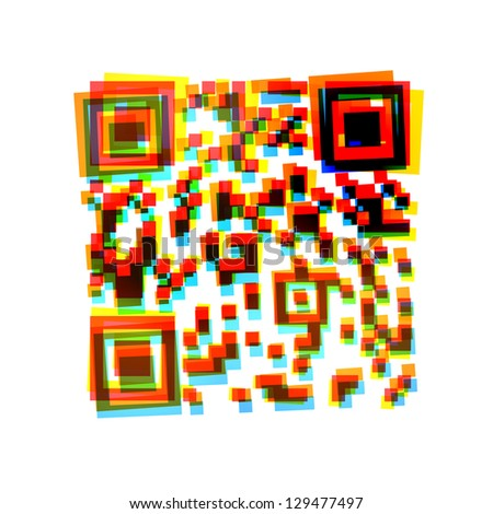 abstract icon on white background - stock photo
