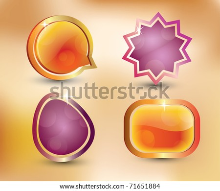 Abstract icons - stock photo
