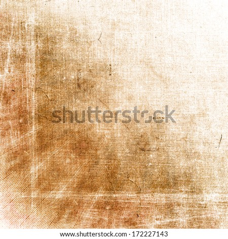 Abstract illustrated burnt paper & cardboard texture, background. - stock photo