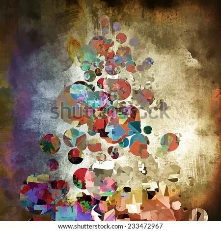 abstract illustration - stock photo