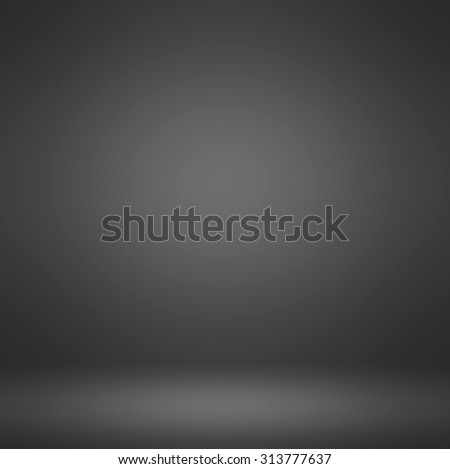 Abstract illustration background texture of dark and light clear blue, gray, black and white gradient flat wall and floor in empty spacious room interior - stock photo