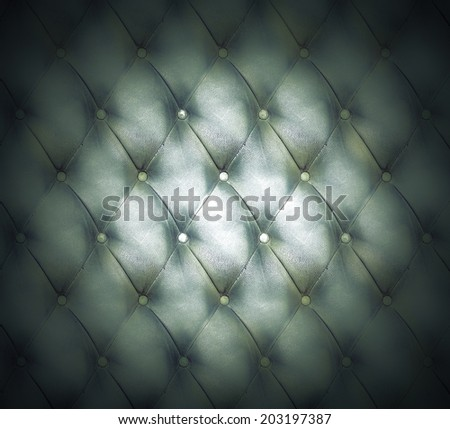 Abstract illustration background texture of old natural luxury modern style leather with rhombs. Classic light white and dark black grungy skin of retro wall, door, sofa, studio interior with buttons. - stock photo