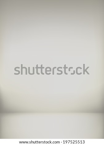 abstract illustration background texture of sepia wall, flat floor in empty room. - stock photo