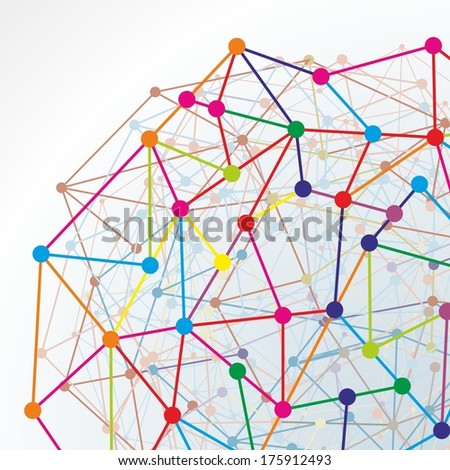 abstract illustration of a net with connections - stock photo