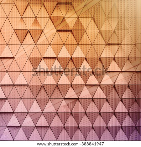 Abstract illustration of modern architectural background. Double exposure - stock photo