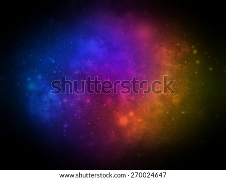 Abstract illustration of universe or cosmos - stock photo