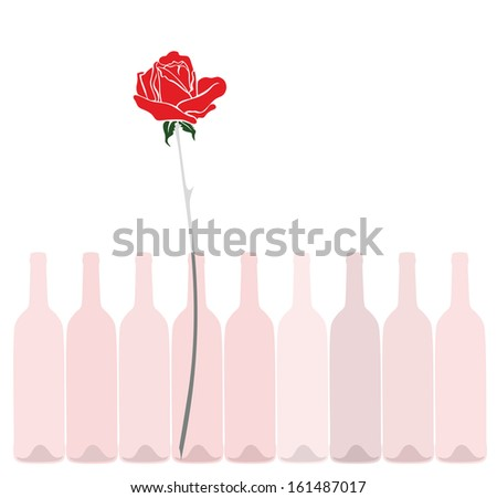 Rose Wine Images of Wine Bottles With Rose