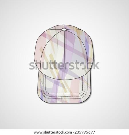 Abstract illustration on peaked cap - stock photo