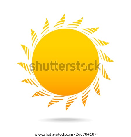 abstract illustration sun icon - stock photo