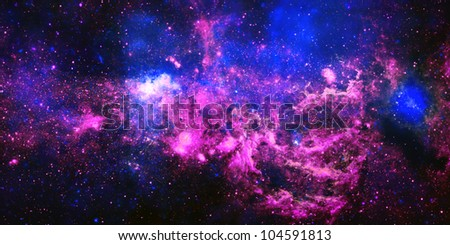 Abstract illustration with a beautiful star space nebula - stock photo
