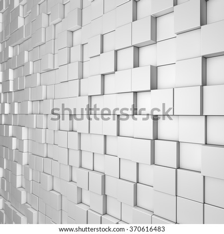 Abstract image of cubes background in white toned - stock photo