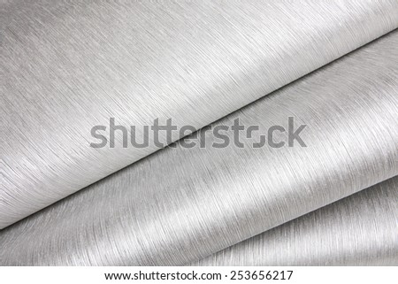 Abstract image of gray paper rolls - stock photo