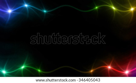 abstract image of lens flare representing the spotlight with special effect background - stock photo