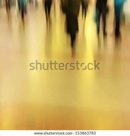 Abstract image of people in motion blur. - stock photo