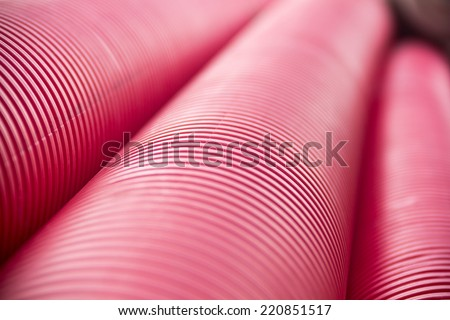 Abstract image of plumbing pipes - shallow depth of field - stock photo