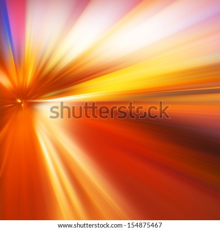 Abstract image of speed motion on the road at evening time. - stock photo