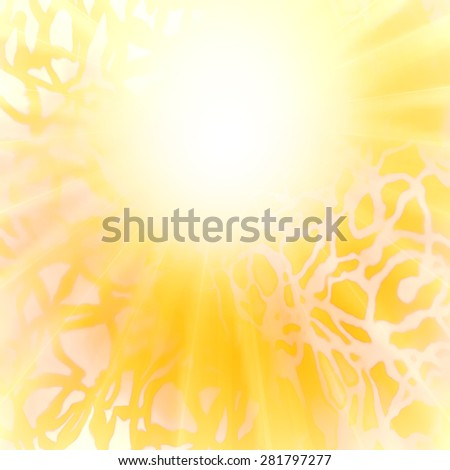 Abstract image of the sun. Sun, orange yellow abstract background. - stock photo