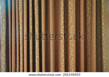 Abstract images of theatre curtains up close - stock photo