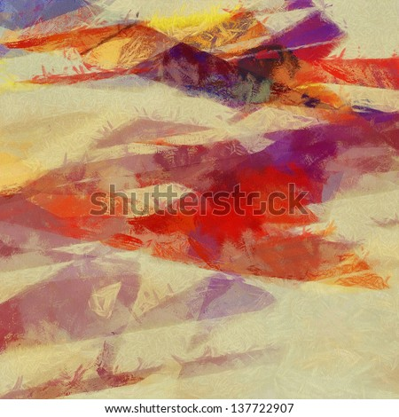 Abstract impressionist-style background with grunge texture.  For vintage layout design, holiday background invitation or web template - stock photo
