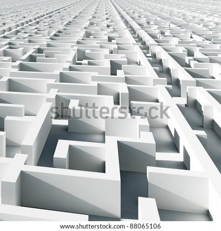 Abstract infinity maze - stock photo