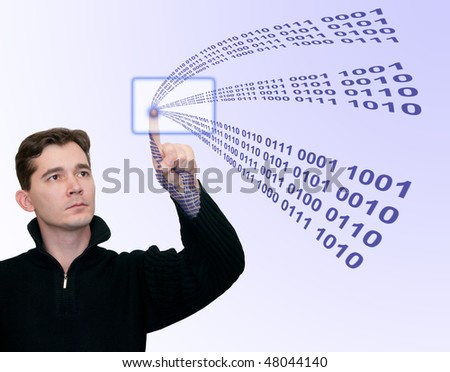 Abstract information technology - stock photo