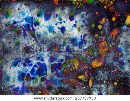 Abstract ink blob - digital edit painting background - stock photo