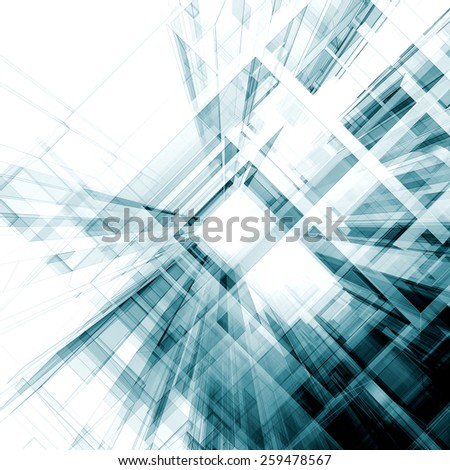 Abstract interior. Architecture design and model my own - stock photo