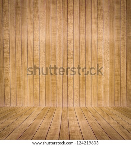 Abstract interior with parquet wooden floor - stock photo