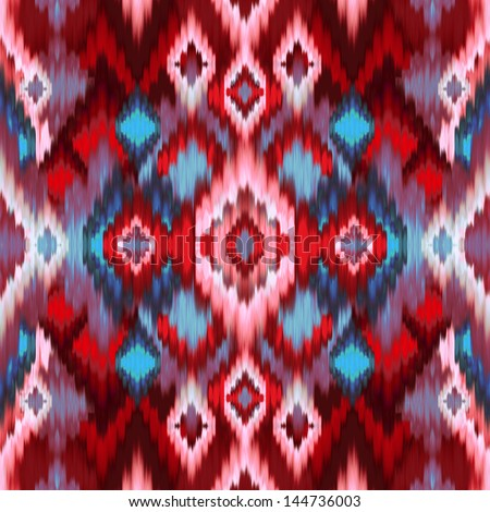 abstract Intricate seamless pattern background, ethnic ornamental fabric design - stock photo