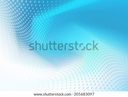 Abstract .jpg blue wave with dots background. Plenty of copy space. - stock photo