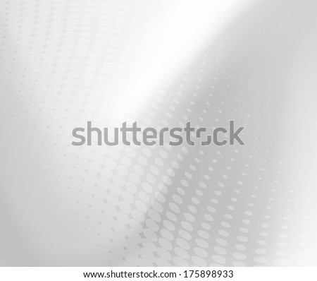 Abstract .jpg gradient grey and white background with dot swirl pattern overlay. Plenty of copy space. Perfect for any communication art.  - stock photo