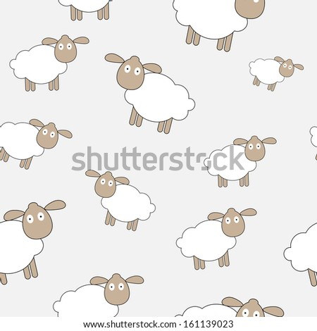 Abstract lamb seamless pattern background  illustration - stock photo
