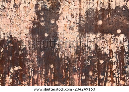 Abstract  landscape illustration. Artistic composition based on hand made watercolor and gouache paintings. - stock photo