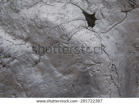 Abstract, Lead surface. - stock photo