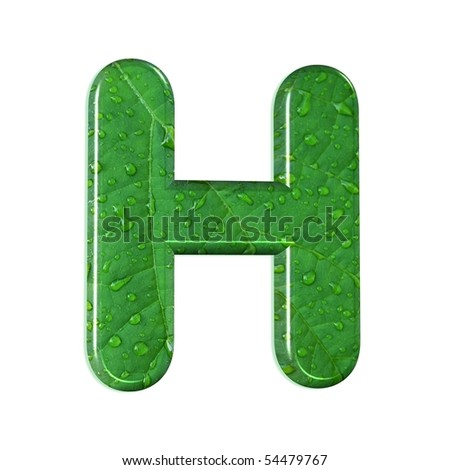 H Letter In Style abstract letter h style