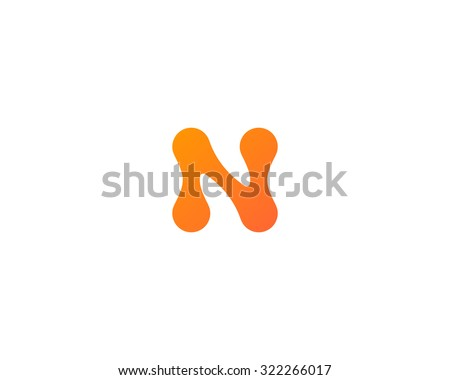 Abstract letter N logo icon design. Universal colorful symbol logotype for: biotechnology molecule atom dna chip medicine, science, technology, laboratory, delivery electronics. - stock photo