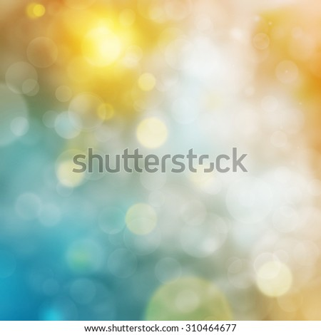 abstract light and bokeh in blue. - stock photo