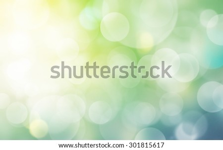 abstract light burst and bokeh, for nature concept. - stock photo