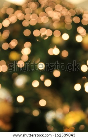 abstract light from Christmas decoration - stock photo