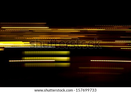 Abstract light lines . Abstract glowing golden lines - stock photo