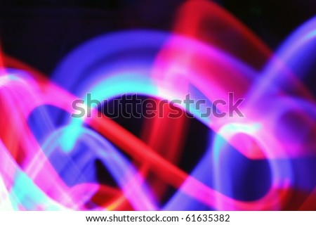 abstract light painting with blue red pink and over colors - stock photo