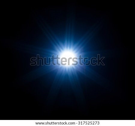 Abstract light rays isolated on black background - stock photo