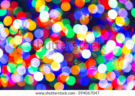 Abstract lights, Blurry pattern of colorful decoration lights - stock photo
