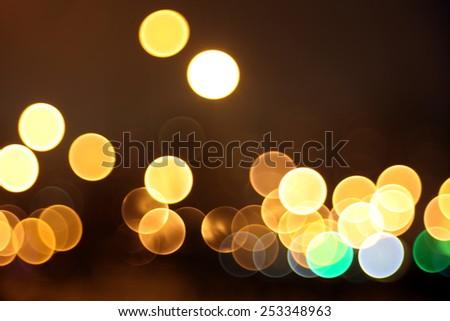 Abstract lights, flash , night city - stock photo