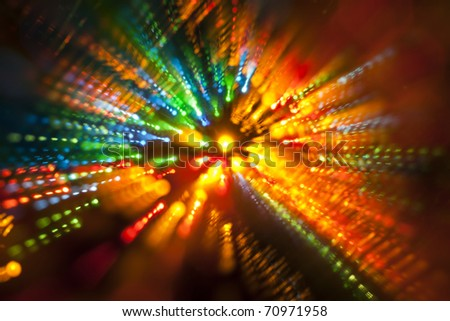abstract lights on a black background - stock photo