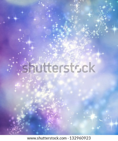 Abstract Lights on Purple and Blue Colored Background - stock photo