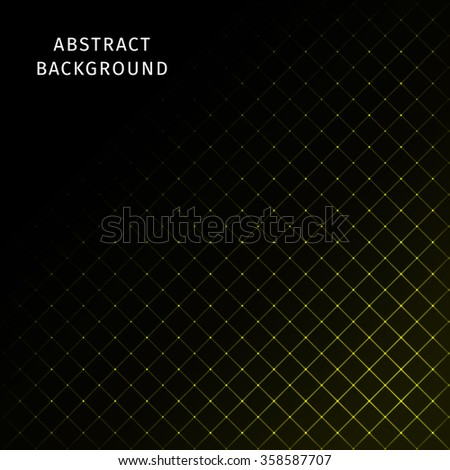 Abstract lights yellow strips on dark background - stock photo